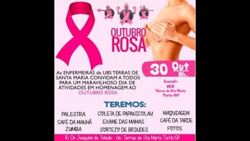 UBS realiza programação do Outubro Rosa no bairro Santa Maria