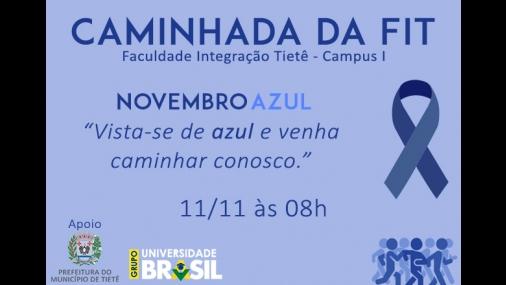 Caminhada FIT conscientiza sobre Novembro Azul