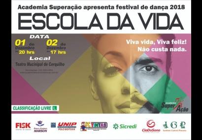 Teatro Municipal recebe Festival de Dança 2018 �Escola da Vida�