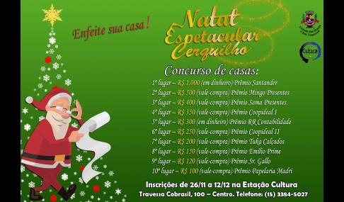 Prefeitura de Cerquilho realiza Concurso Natal Espetacular