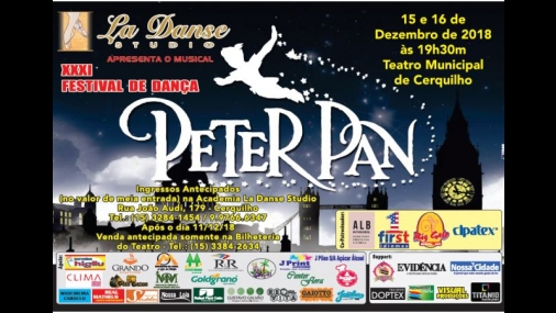 "Teatro Municipal recebe Festival de Dança ""Peter Pan"""