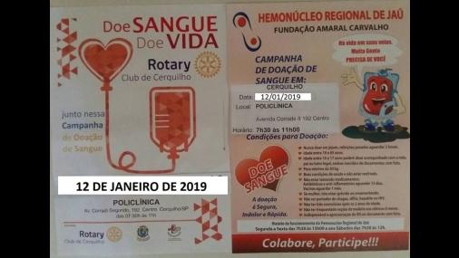 Campanha de Doação de Sangue acontece neste sábado em Cerquilho