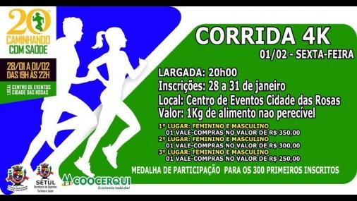 20º Caminhando com Saúde começa no dia 28 de janeiro em Cerquilho
