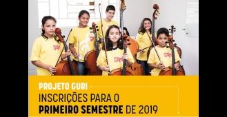 Projeto Guri abre vagas para 2019