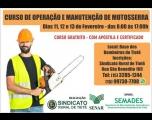 Sindicato Rural oferece curso de Motosserra