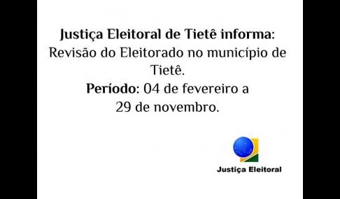 Justiça Eleitoral convoca eleitor para realização de atualização