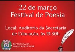 Secretaria da Educação realiza Festival de Poesia
