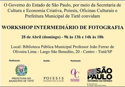 Workshop Intermediário de Fotografia acontece em abril