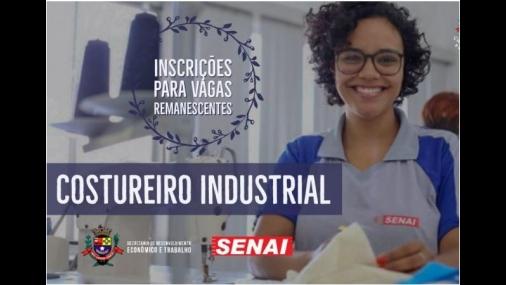 Prefeitura e SENAI oferecem curso Costureiro Industrial