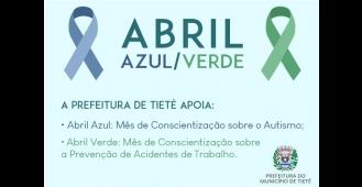 Prefeitura de Tietê apoia campanhas alusivas ao mês abril