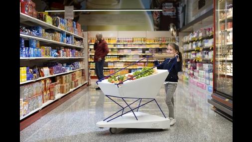 Ford cria carrinho de supermercado que freia automaticamente