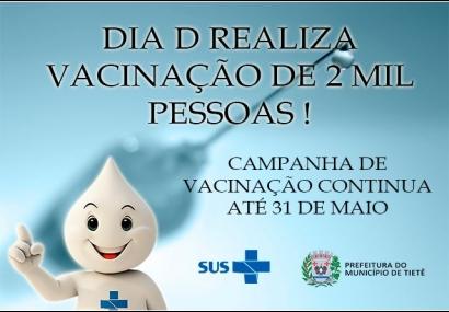 Dia D realiza vacinação de 2 mil pessoas