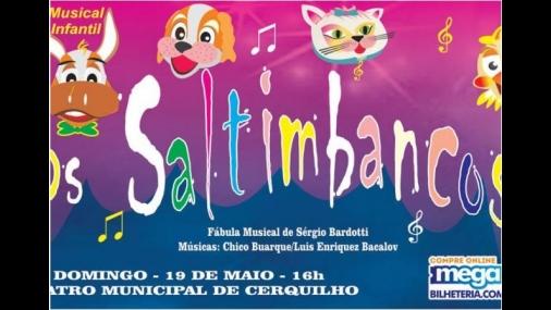 "Teatro recebe musical infantil ""Os Saltimbancos"""
