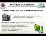 Prefeitura informa sobre Ecopontos espalhados por Cerquilho