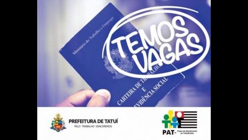 Pat de Tatuí está com vagas de empregos disponíveis