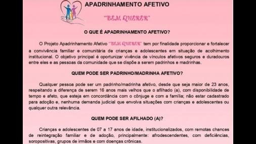 Projeto Apadrinhamento busca proporcionar a convivência familiar