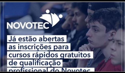 Alunos podem se inscrever em cursos do NovoTec