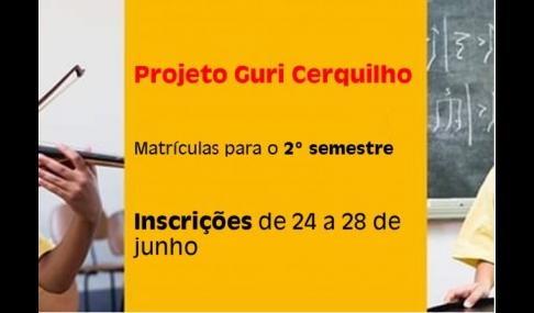 Projeto Guri informa sobre matrículas para o 2º semestre