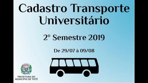 Transporte Universitário inicia Cadastro para o 2° Semestre