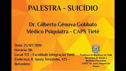 CAPS promove palestra sobre Suicídio