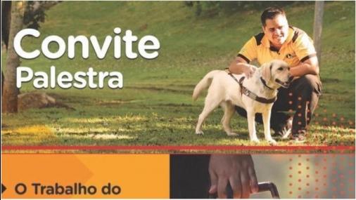 Palestra sobre trabalho com cães-guias